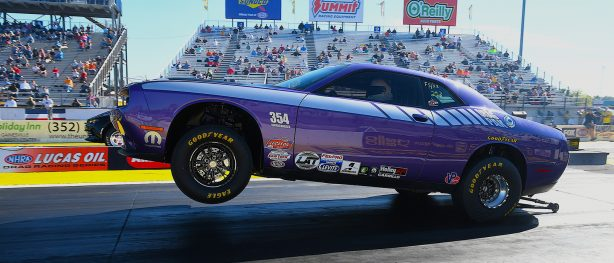 Plum Crazy Challenger racing