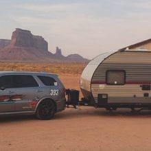 Durango SRT pulling a camper