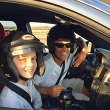 Steve Benson and his son getting ready to race their Dodge Durango SRT