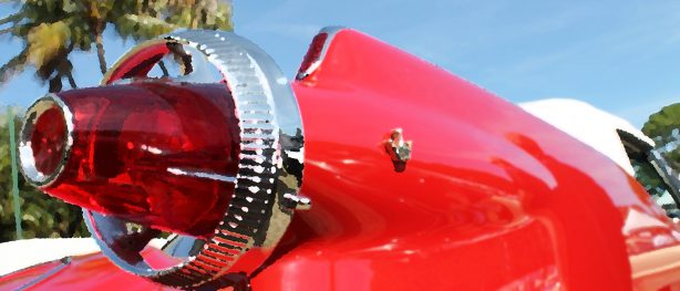 Tail light of classic Dodge