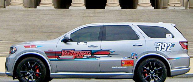 Dodge Durango SRT in front of a museum