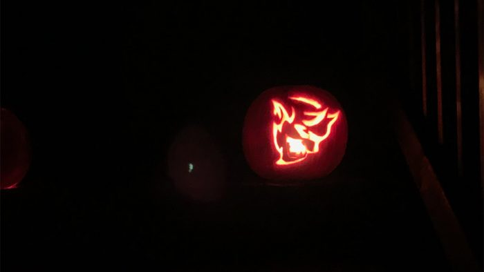 Dodge Demon pumpkin