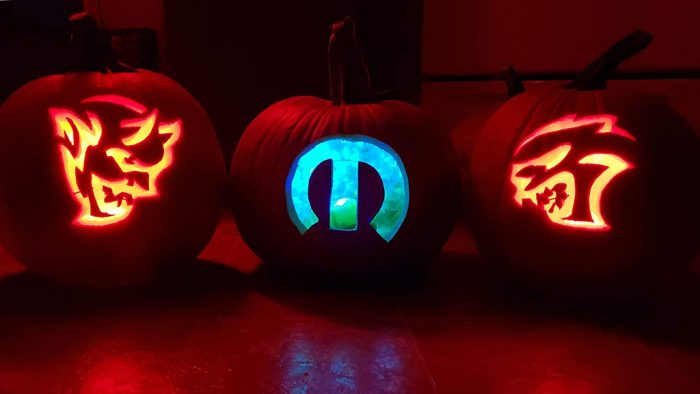 Dodge Demon, Mopar and Dodge Hellcat pumpkins