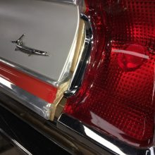 Tail lights of Hurst HEMI Under Glass