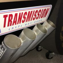 Exhaust pipes of Hurst HEMI Under Glass