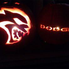 Dodge and Hellcat pumpkins