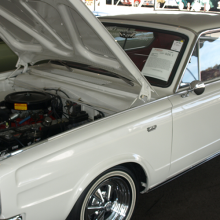 White D-Dart with hood open