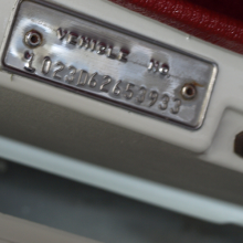 VIN tag showing L023 on a D-Dart