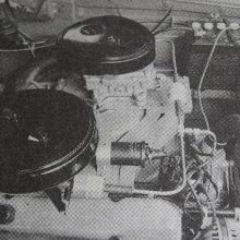 This pre-production Max Wedge test mule from late 1961 shows the fabricated cross ram intake manifold with bolt-on plenum covers. They allowed carburetor movement as the ideal location was being sought. The twin two-bolt air cleaners are hand-modified pieces pirated from the Chrysler 300 long-ram system, then trimmed to fit under the Dodge B-body's sloping hood. They didn't make it to production.