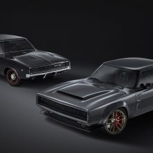 "The Dodge ""Super Charger"" Concept (front) incorporates modern elements, including the new 1,000 horsepower ""Hellephant"" 426 Supercharged Mopar Crate HEMI® Engine, to reimagine the classic 1968 Dodge Charger (back)"
