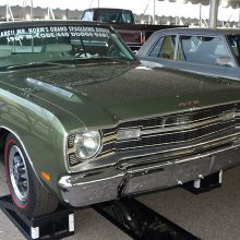 This green 1969 Dart 440 GTS was sold new at the legendary Mr. Norm's Grand-Spaulding Dodge in Chicago. It was ordered with the optional ($64.10) mag-style full wheel covers instead of the austere hub caps.