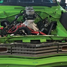 Engine of Charles Schultz's 1973 Duster