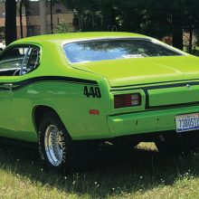 Rear view of Charles Schultz's 1973 Duster