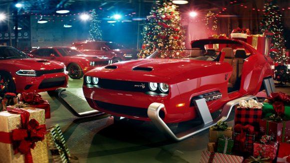 dodge christmas challenger srt hellcat redeye sleigh
