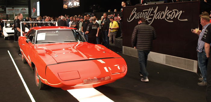 Red 1969 Charger Daytona at Barrett-Jackson auction