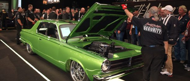 Green 1965 Dart on the auction block at Barrett-Jackson auction
