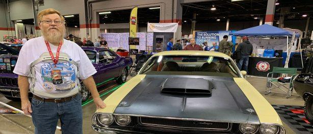 Norm Vander Veen standing beside his 1970 Challenger T/A