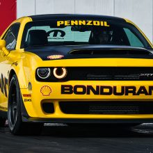 Yellow Bondurant/Pennzoil Challenger widebody
