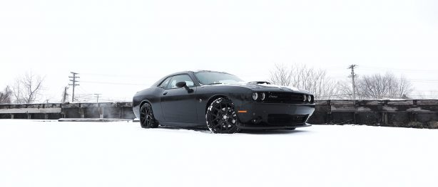 Dodge Demon being driven in the snow