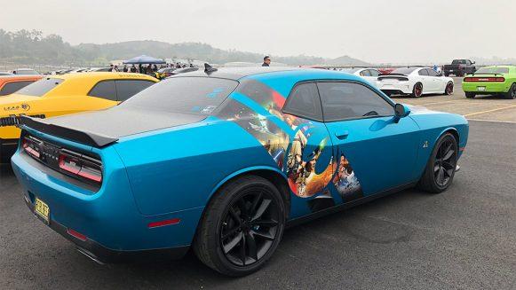 Blue Dodge Challenger Scat Pack
