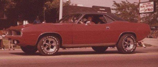 Kevin Bush in his red 1970 Cuda