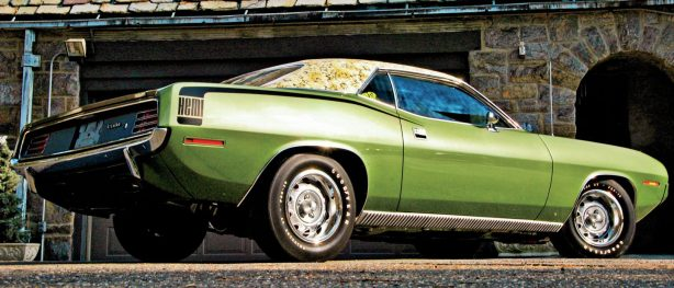 Side view of 1970 Mod-Top HEMI `Cuda.