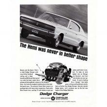 Historic advertisement of Dodge Charger HEMI