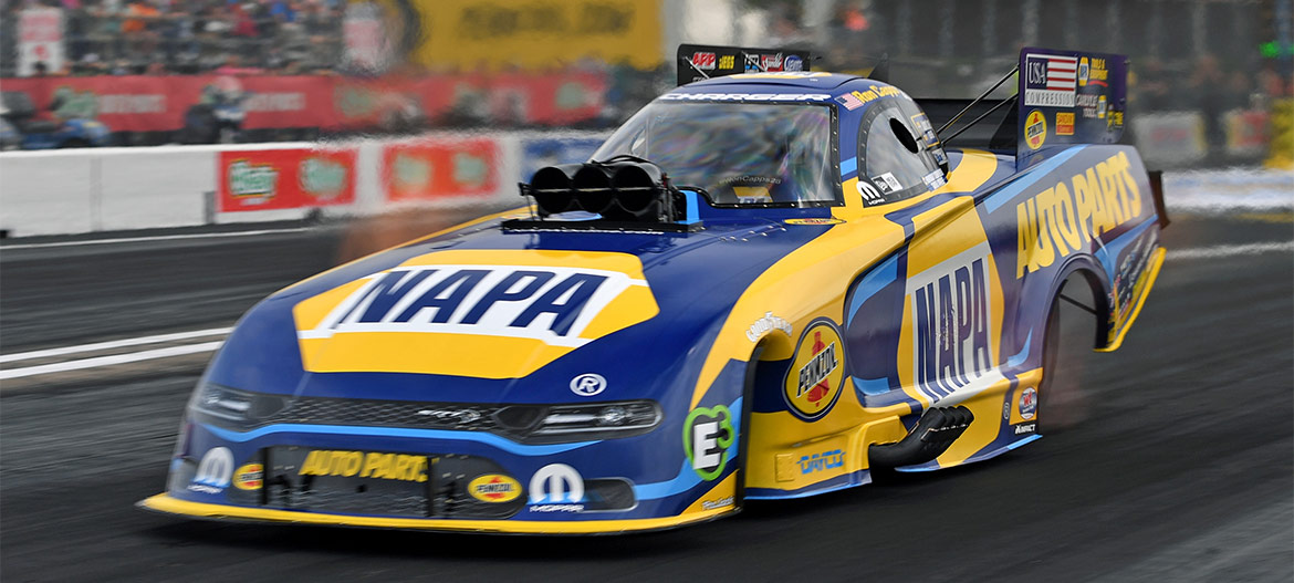 Matt Hagan driving his Napa Auto Parts Funny Car