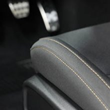 gold stitching on seat of stars & stripes package