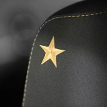 gold star stitched on seat of stars and stripes package