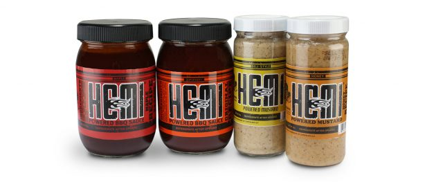 HEMI branded BBQ sauces and mustard sauces
