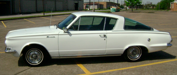 White 1965 Plymouth Barracuda