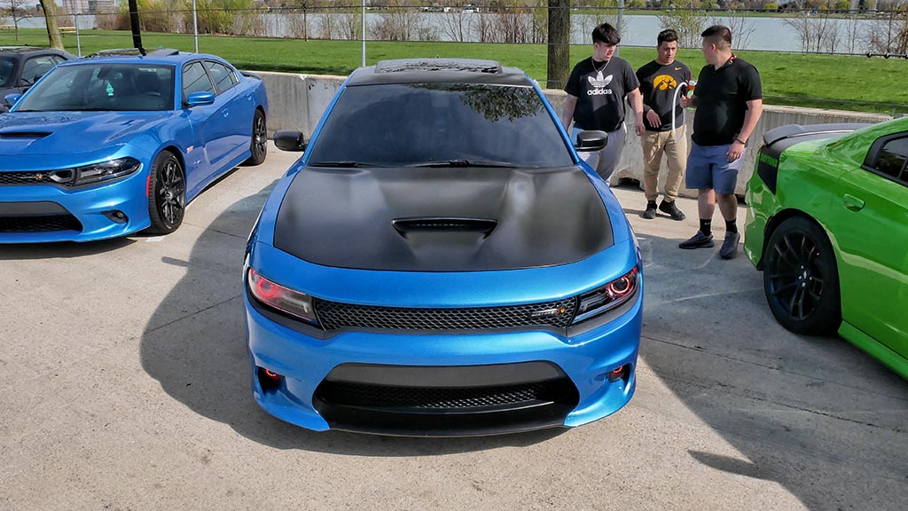Blue Dodge Angry Bee Charger
