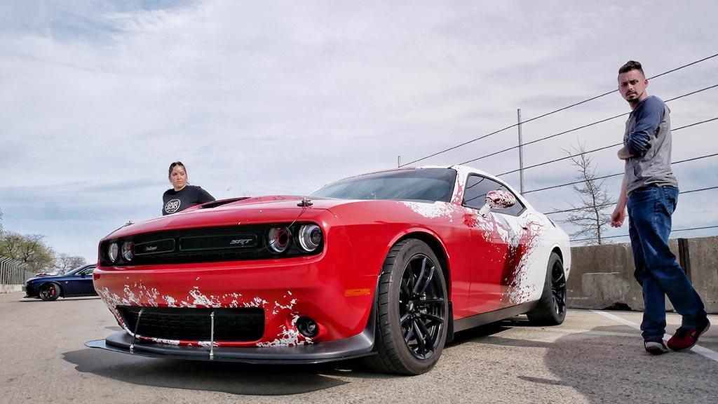Red SRT Dodge Challenger