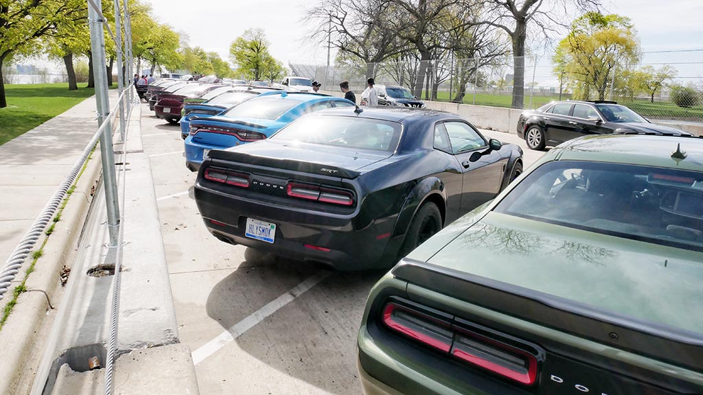 Row of Dodge cars