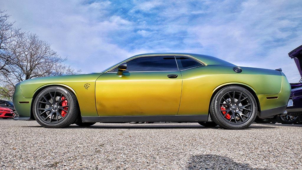 Green Dodge Hellcat