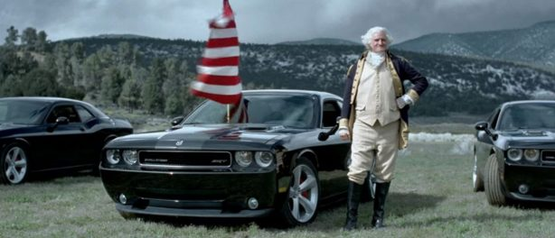 dodge challenger and George Washington.
