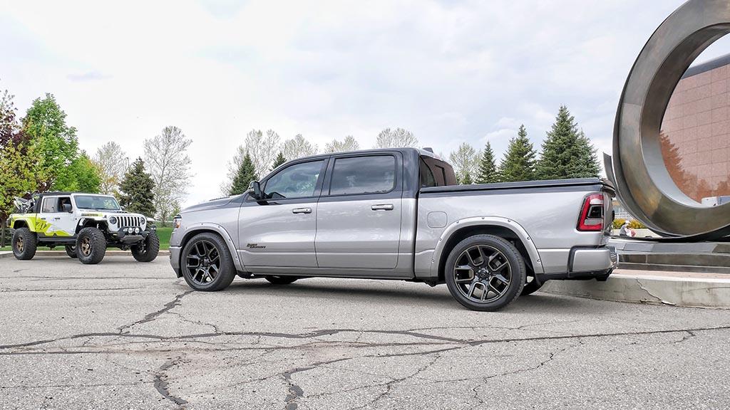 Silver RAM truck