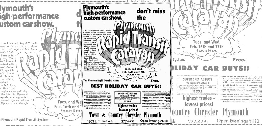 old rapid transit caravan advertisement