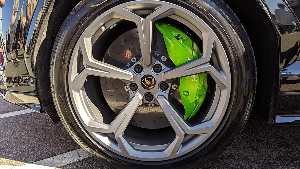 Green brake calipers