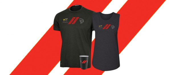 Mens angry bee/hellcat t-shirt with womens angry bee/hellcat tank top and stainless steel angry bee/hellcat pint glass