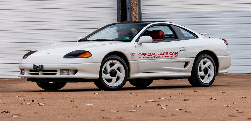 White Dodge Stealth R/T Turbo official pace car for the 75th Indianapolis 500