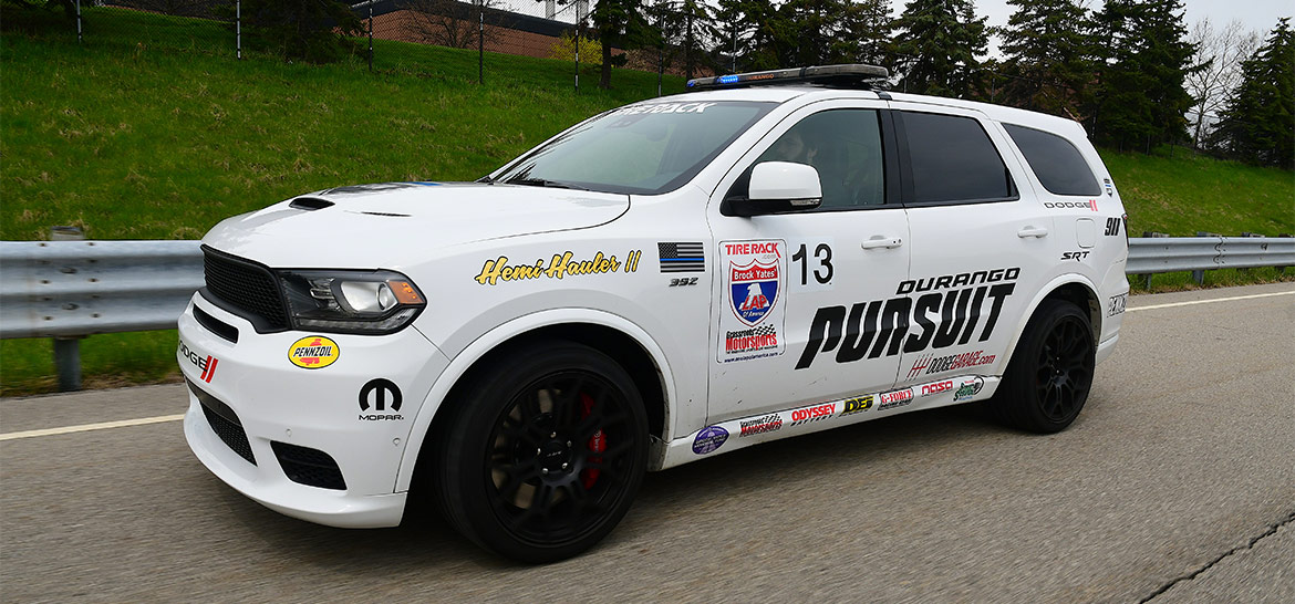 Dodge Durango SRT Pursuit driving along a road