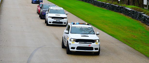 Durango SRT Pursuit leading the pack in a race