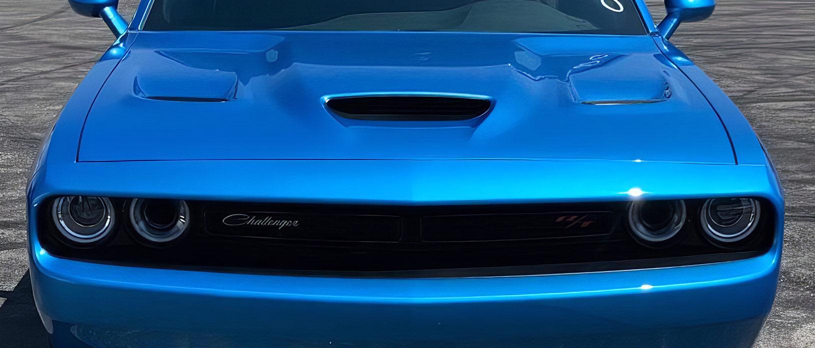 front end of a blue Dodge 1320 Drag Pak