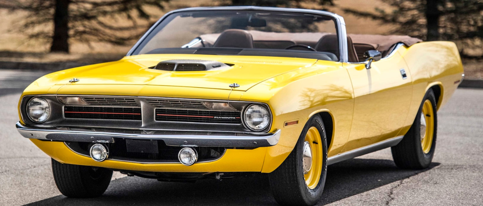 Yellow 1970 Plymouth 'Cuda convertible