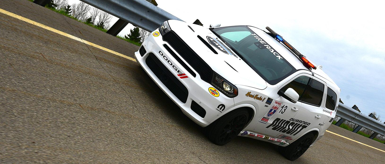 Front view of a Durango SRT Pursuit