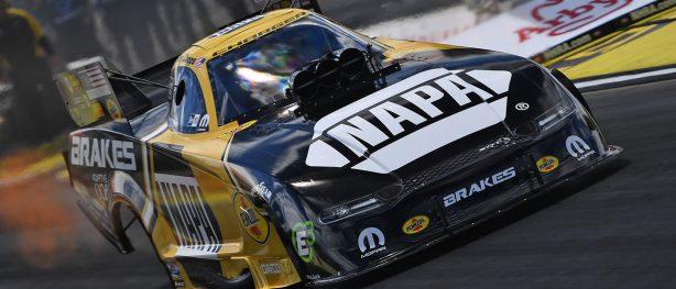 NAPA racecar on the track