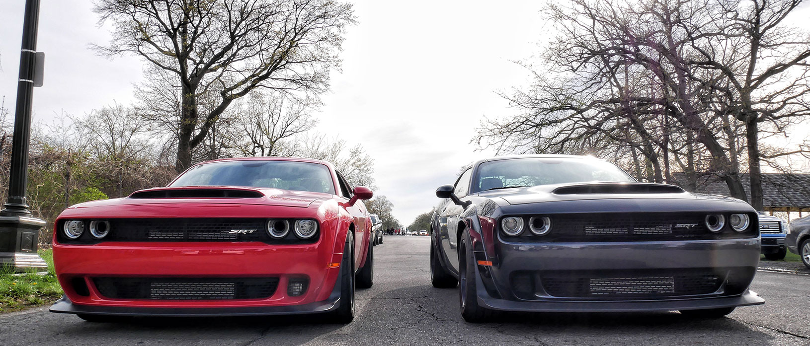 Red Demon next to a gray Demon