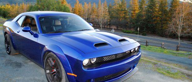Blue Dodge Challenger SRT